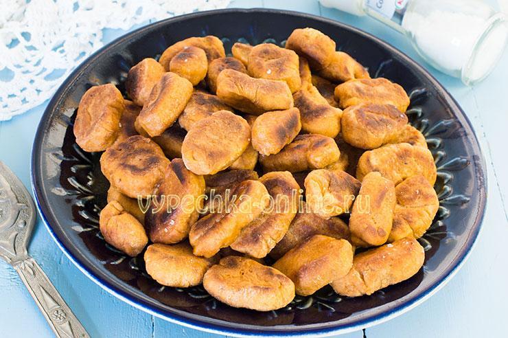 Пампушки без дрожжей постные жареные – рецепт с фото на сковороде