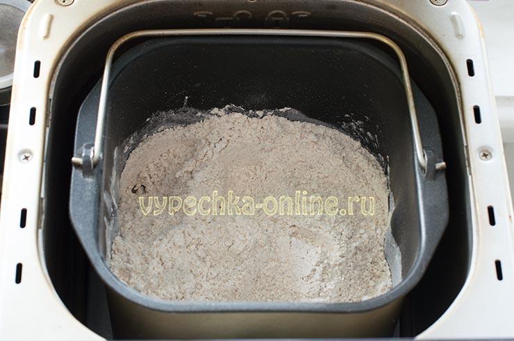 Ржано-пшеничный хлеб в хлебопечке рецепт