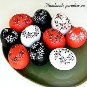 Рисунки на пасхальных яйцах