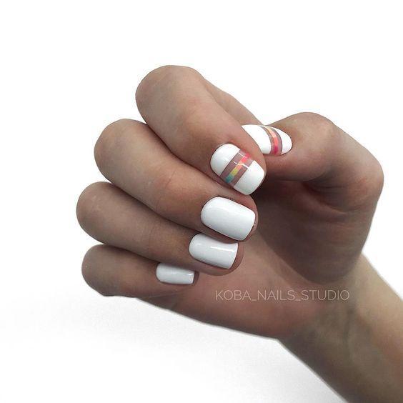 Ногти весна 2020 белый лак