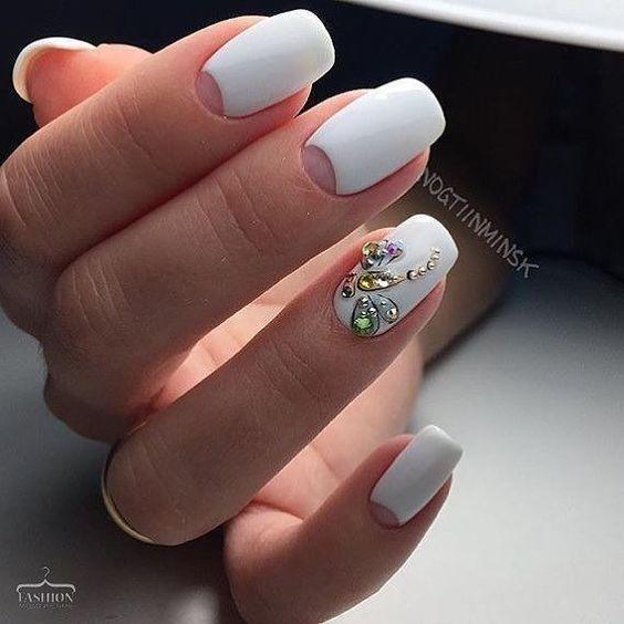 Белый маникюр 2020 модные тенденции весны – дизайн ногтей с фото