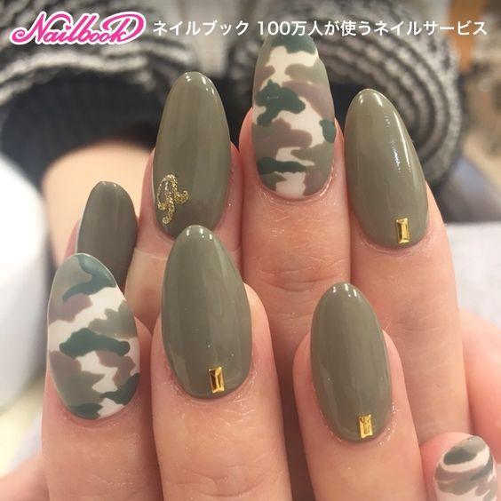 Военный дизайн ногтей
