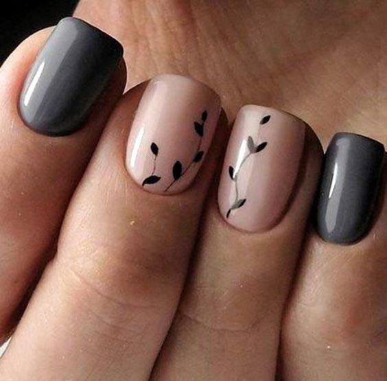 Маникюр весна 2020 с серым лаком – весенний дизайн ногтей с фото