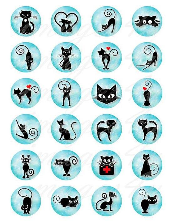 Трафареты кошек для рисования