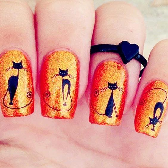 Весенний маникюр с котиками