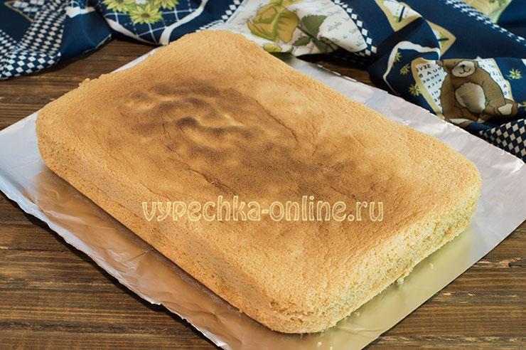 Пышный бисквит на желтках простой рецепт