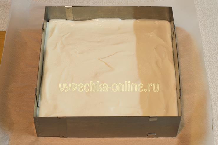 Творожный чизкейк без выпечки с печеньем