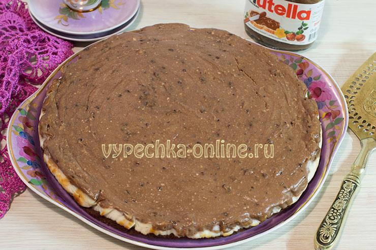 Шоколадный чизкейк рецепт с фото пошагово с Нутеллой