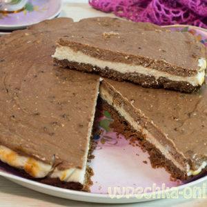 Шоколадный чизкейк из творога с Нутеллой в духовке – рецепт с фото пошагово