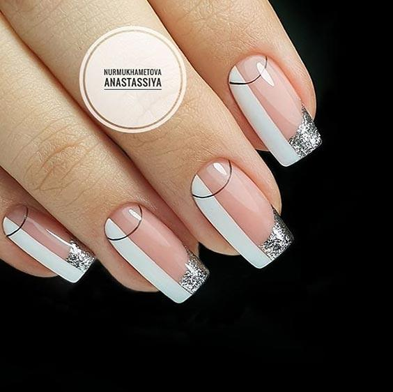 Ногти с полосками дизайн фото