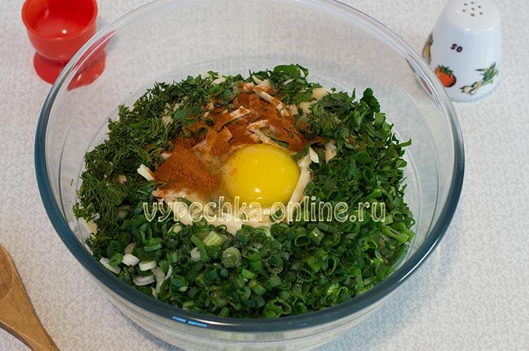 Начинка для хачапури с сыром и яйцом