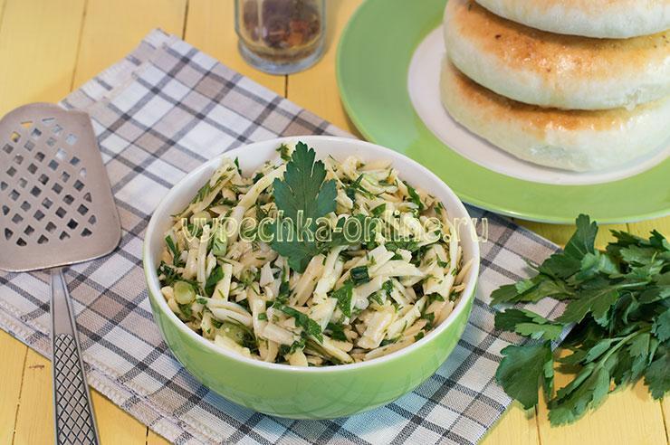 Начинка для хачапури с сыром и зеленью