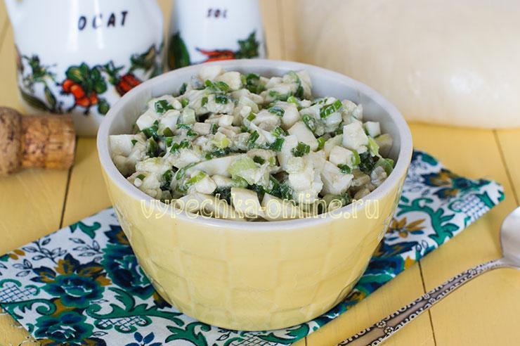 Рецепт начинки из яйца и зелёного лука для пирожков