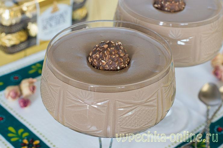 Шоколадно-творожный крем для торта и эклеров