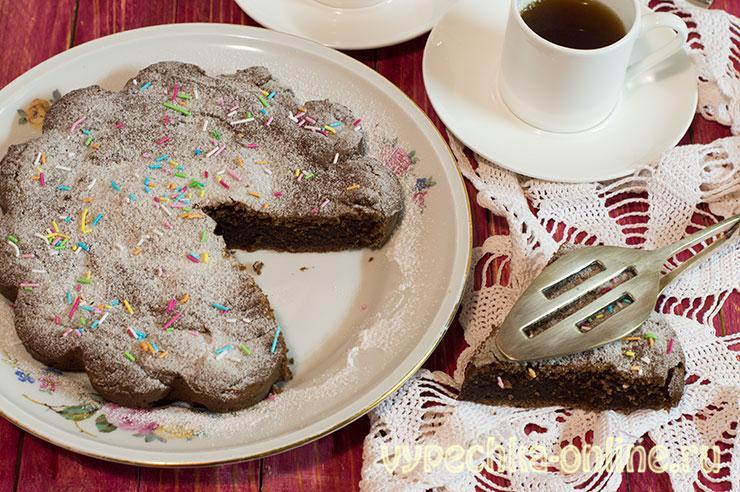 Шоколадный пирог с какао простой рецепт с фото в духовке на скорую руку