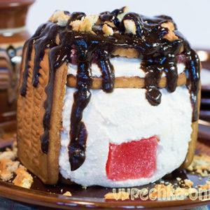 Творожный домик из печенья рецепт с фото