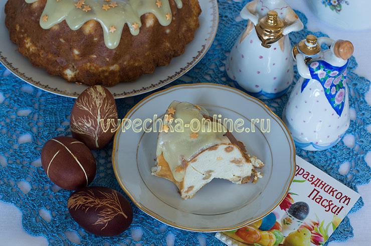 Печёная пасха с творогом рецепт Похлёбкина
