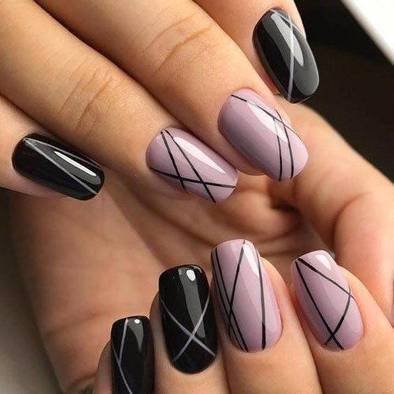 Ногти с полосками дизайн с фото, идеи маникюра 2020
