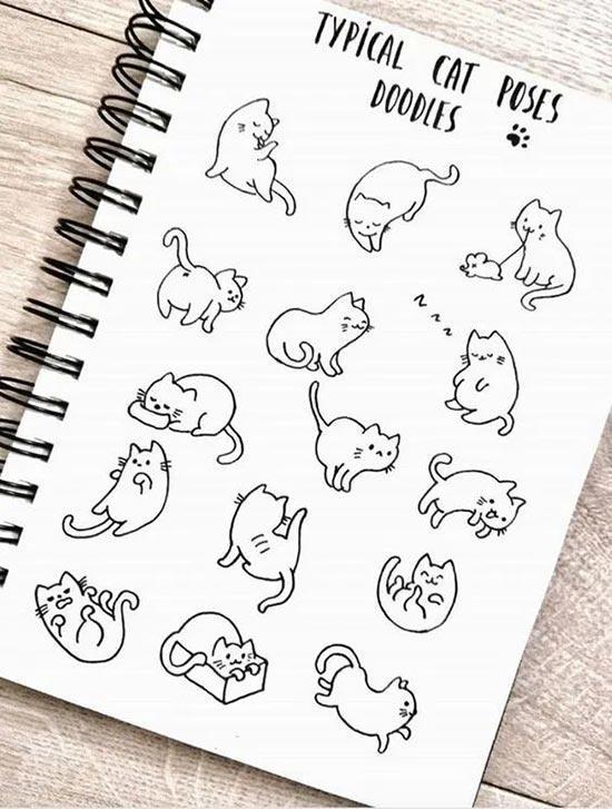 Шаблоны котиков для рисования