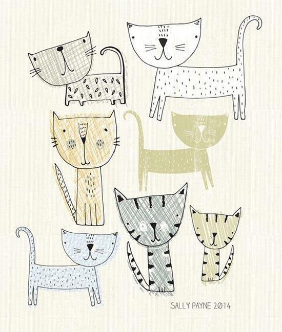 Шаблоны котов для рисования