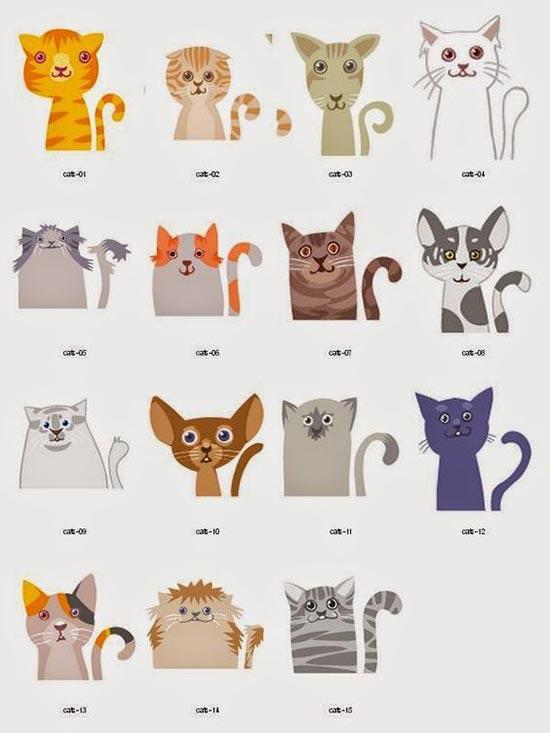Трафареты котиков