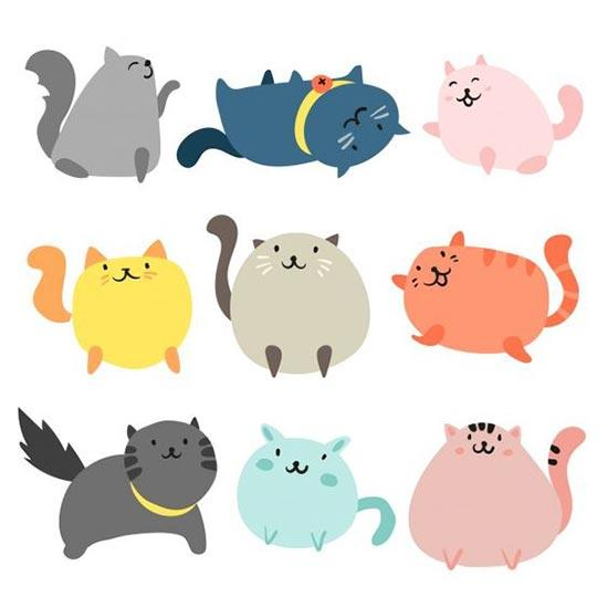 Шаблоны котиков
