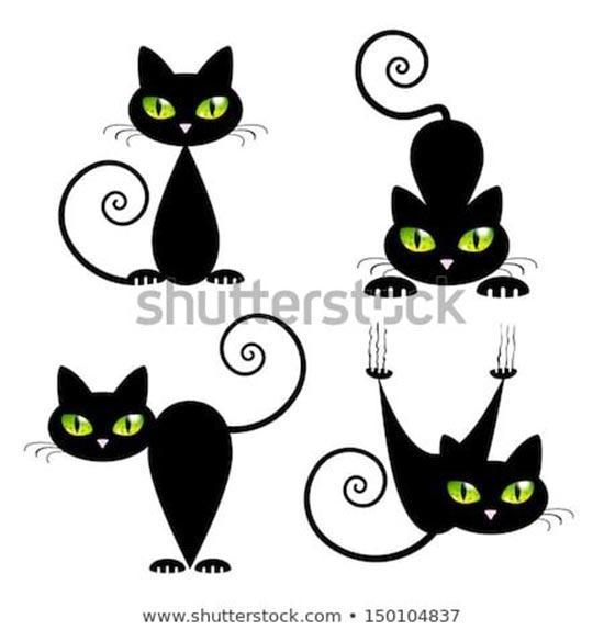 Шаблоны котиков для маникюра