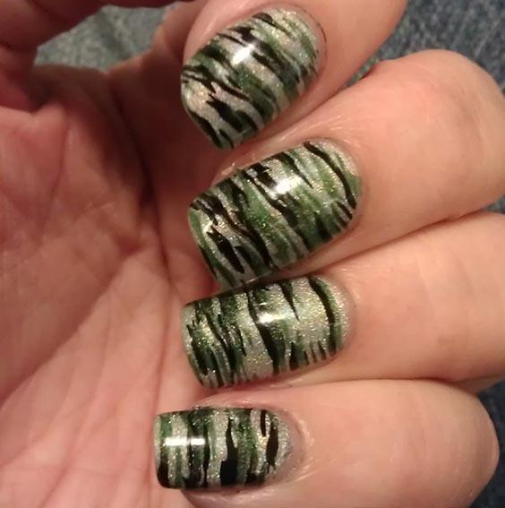 Маникюр ко Дню Победы камуфляжный – военный дизайн ногтей с фото
