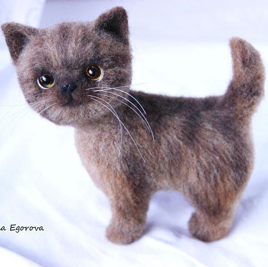 Кошка игрушка валяние