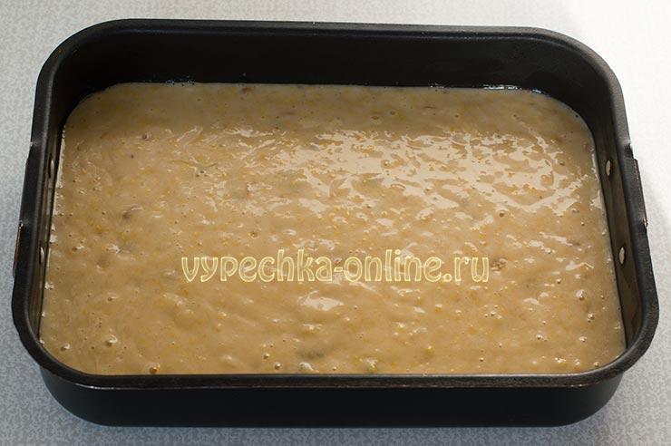 Постный пирог с вареньем быстро и просто