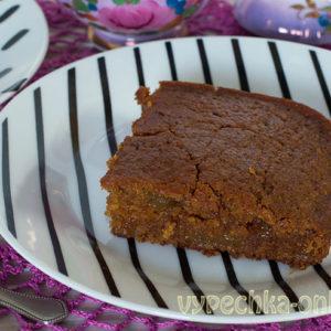 Пирог с вареньем на скорую руку в духовке - рецепт без дрожжей, постный (веганский)