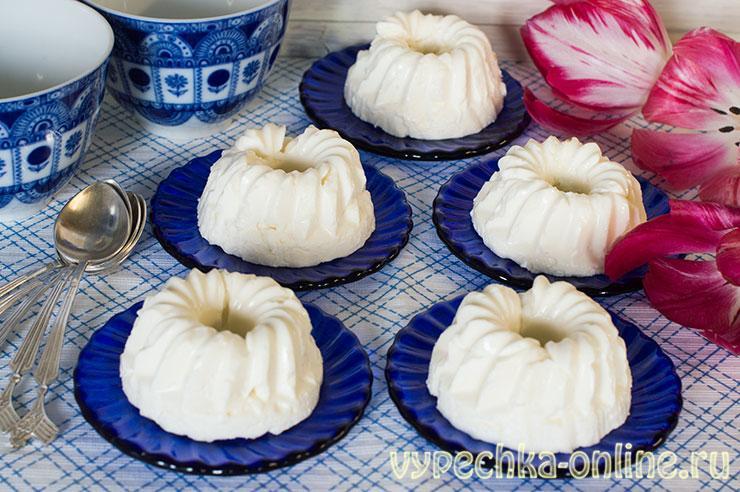 Творожное суфле с желатином без выпечки (сливочный десерт) - рецепт с фото пошагово в домашних условиях