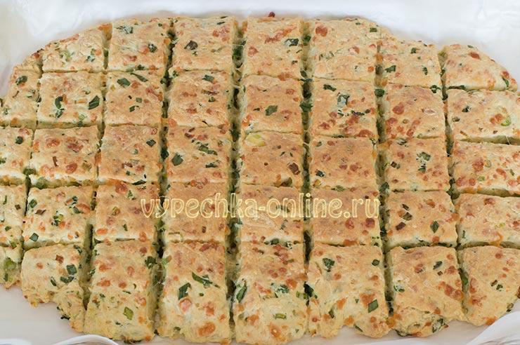 Печенье с сыром и зелёным луком