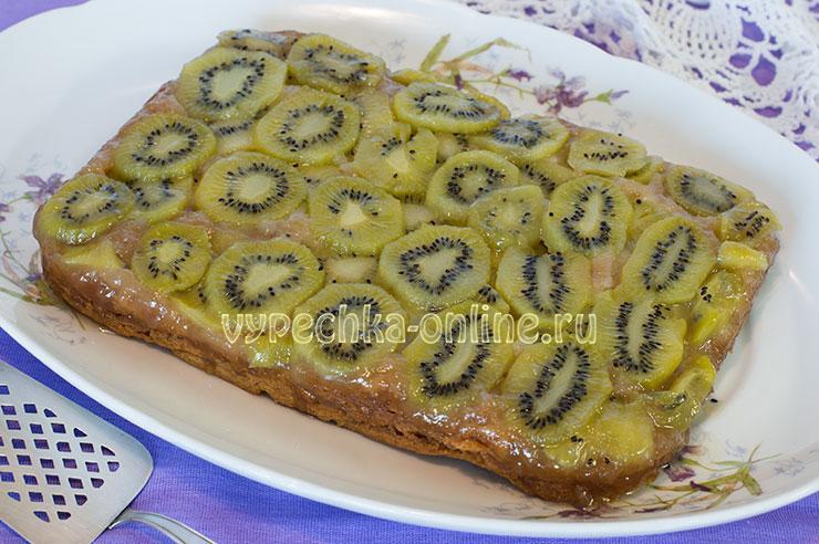 Пирог с киви в духовке - постный рецепт с фото пошагово
