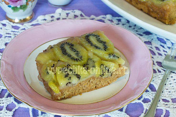 Пирог с киви рецепт постный