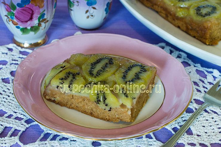 Тарт Татен рецепт в духовке постный с киви