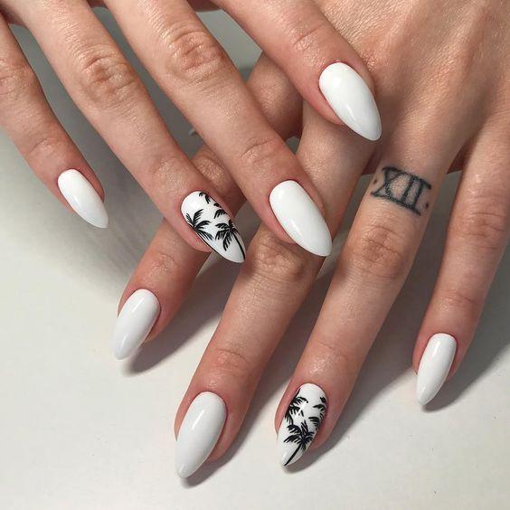 Ногти с пальмами