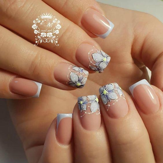 Дизайн ногтей с цветочками