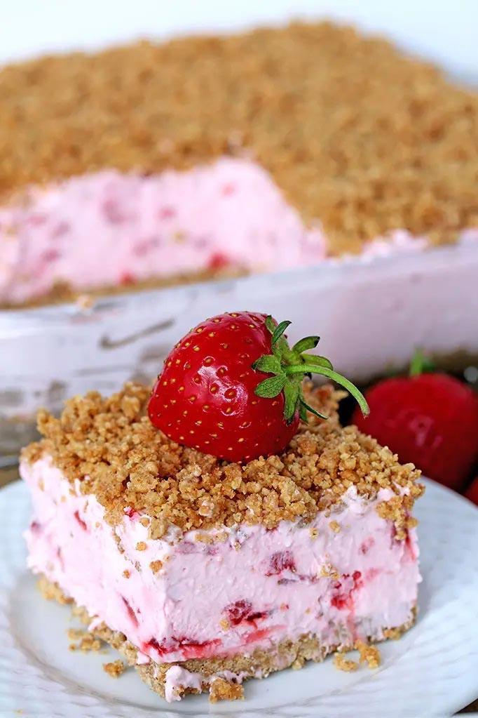 Десерт из клубники быстро и легко