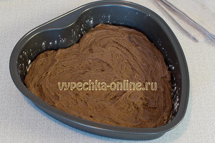 Двухцветный пирог с какао