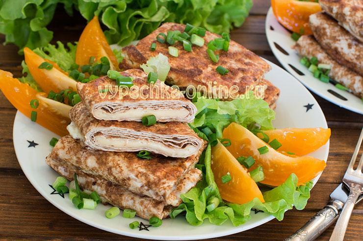 Конверты из лаваша с сыром на сковороде в яйце – рецепт с фото пошагово