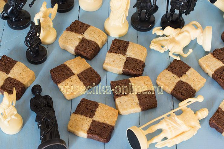Шахматное печенье рецепт с фото пошагово в духовке