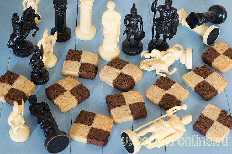 Шахматное печенье – постный рецепт своими руками без формочек