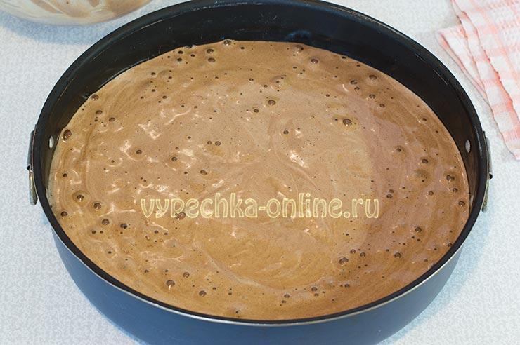 Пышный шоколадный бисквит рецепт с фото