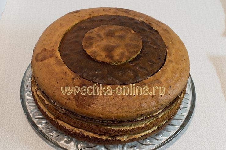 Как сделать шахматный торт из бисквита