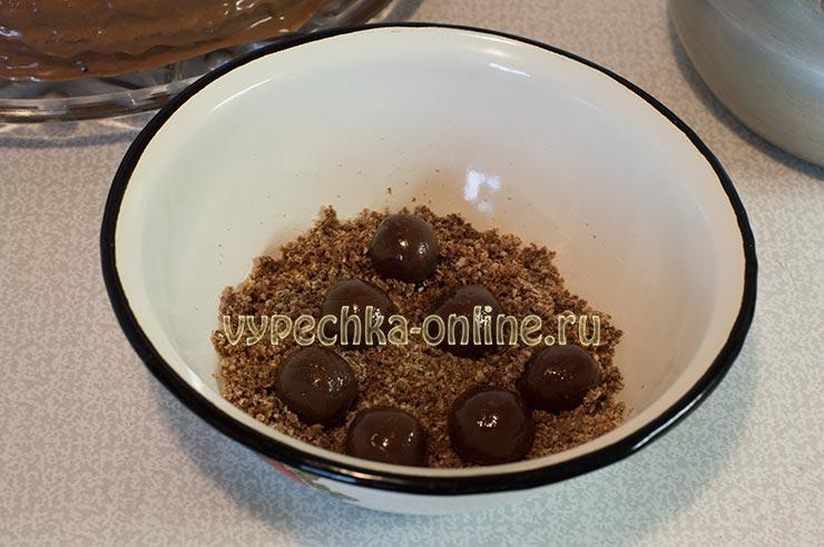 Шоколадные конфеты для украшения торта