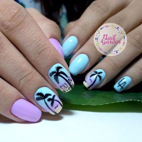 Маникюр с пальмами фото