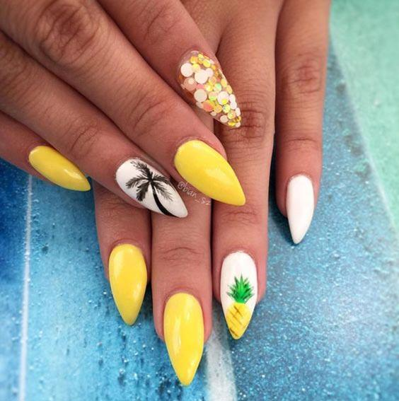 Дизайн ногтей с пальмами (маникюр с фото)
