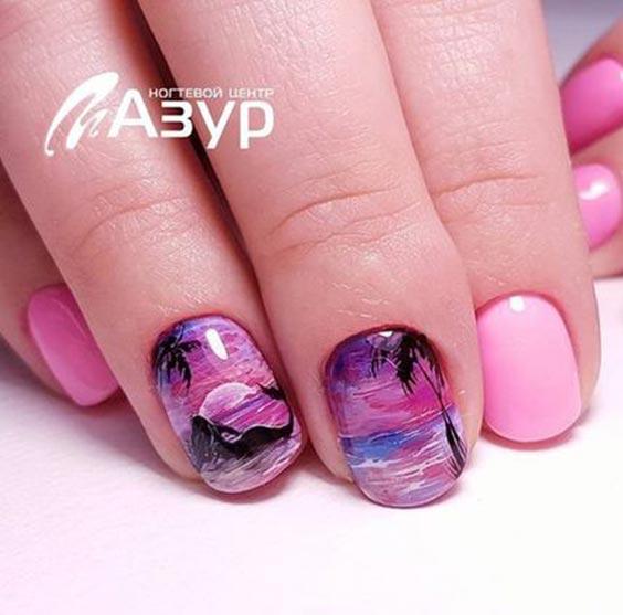 Дизайн ногтей с морской тематикой