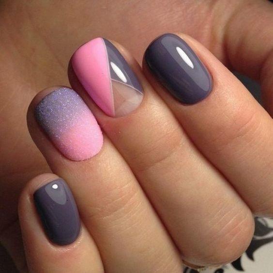 Интересный дизайн ногтей гель лаком